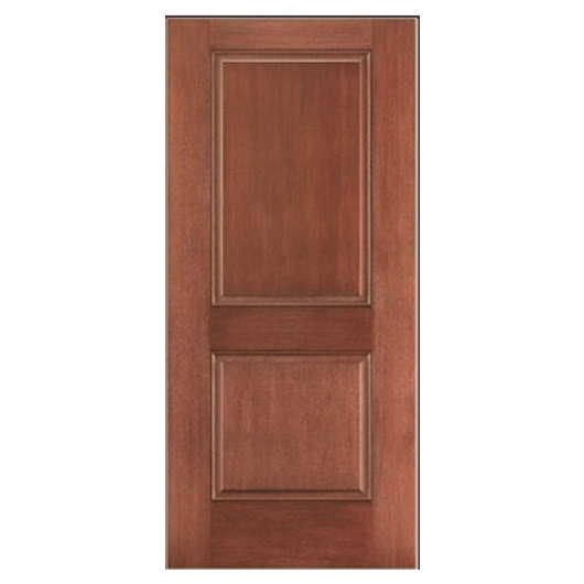 Pella 2 Panel Square Top Entry Door Solid Panel